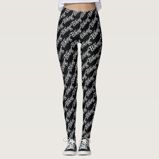 Leggings Polainas negras con diseño bling del falso