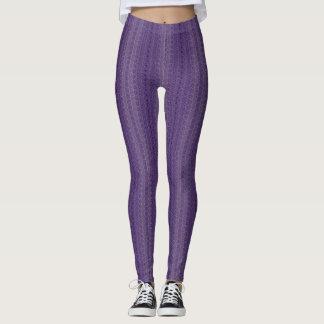 Leggings Polainas orgánicas púrpuras de Extropix