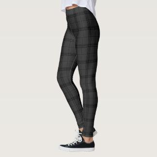 Leggings Polainas oscuras del modelo de la tela escocesa