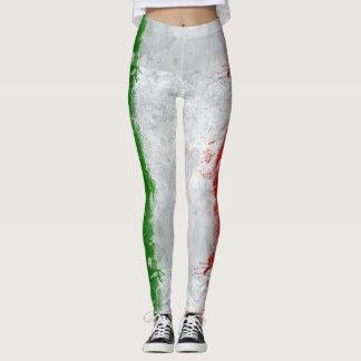 Leggings Polainas para mujer de la bandera italiana