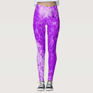 Leggings Polainas púrpuras brillantes del delirio del hielo