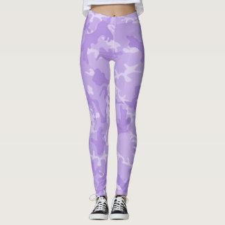 Leggings Polainas púrpuras de Camo del fantasma del