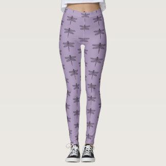 Leggings Polainas púrpuras de la libélula