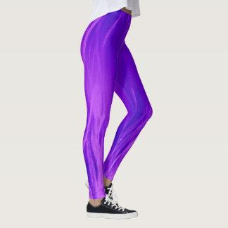Leggings Polainas púrpuras de la llama