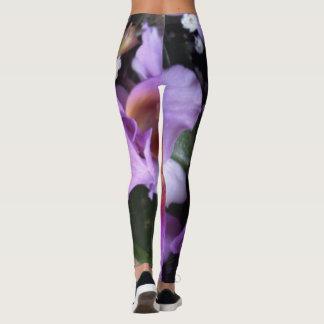 Leggings Polainas púrpuras de la orquídea
