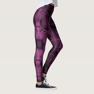 Leggings Polainas púrpuras de los fractales