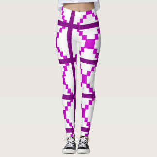 Leggings Polainas púrpuras del arte abstracto