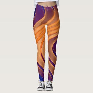 Leggings Polainas púrpuras del modelo del remolino del
