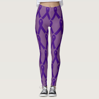Leggings Polainas púrpuras del personalizado de la cinta