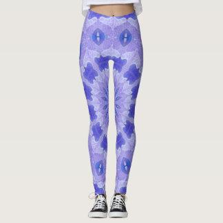 Leggings Polainas púrpuras lindas de la mandala de la danza