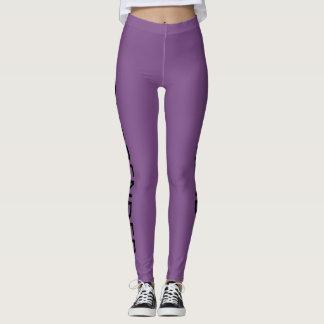 Leggings Polainas púrpuras para las mujeres