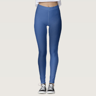 Leggings Polainas rayadas azules brillantes