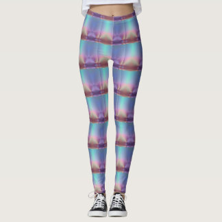 Leggings Polainas rayadas brillantes del color en colores