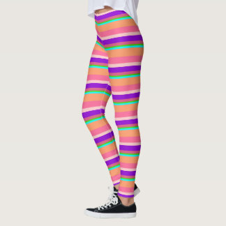 Leggings Polainas rayadas multicoloras