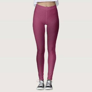 Leggings Polainas rayadas rosadas brillantes