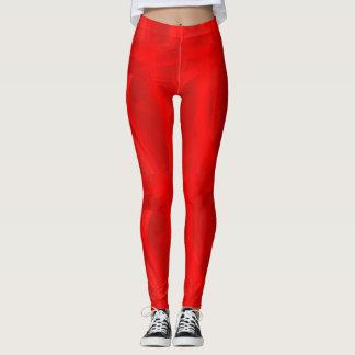 Leggings Polainas rojas del remolino