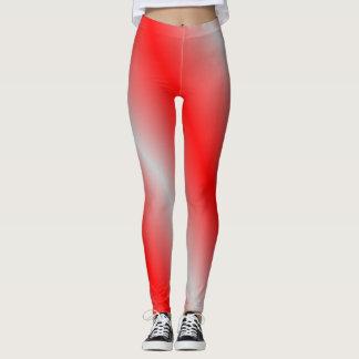 Leggings Polainas rojas y grises claras