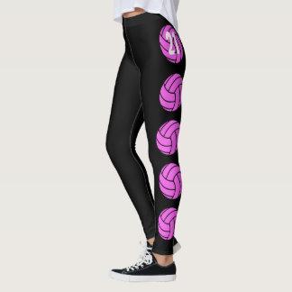 Leggings Polainas rosadas adaptables del voleibol