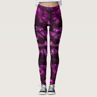 Leggings Polainas rosadas brillantes