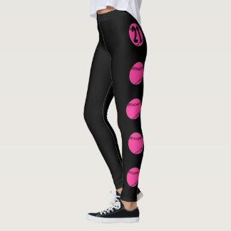 Leggings Polainas rosadas de encargo del softball