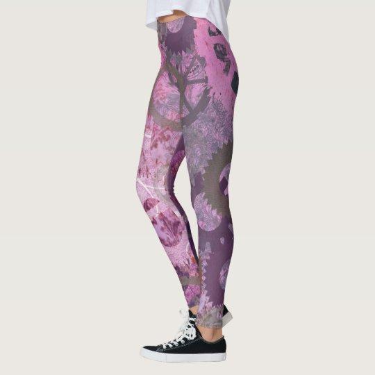 Leggings Polainas rosadas de Steampunk
