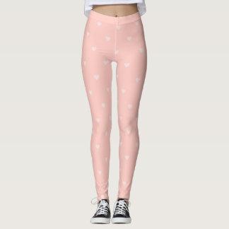 Leggings Polainas rosadas del corazón