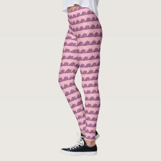 Leggings Polainas rosadas del día de San Valentín de la