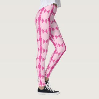 Leggings Polainas rosadas del gimnasio del levantamiento de