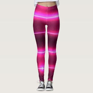 Leggings polainas rosadas del laser