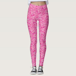 Leggings Polainas rosadas del remolino