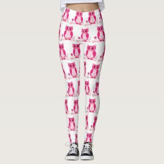 Leggings Polainas rosadas lindas del búho