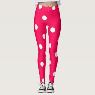 Leggings Polainas rosadas lindas del lunar