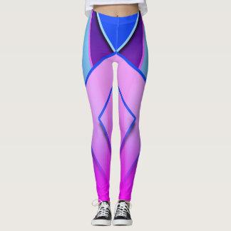 Leggings Polainas rosadas púrpuras azules únicas y lindas