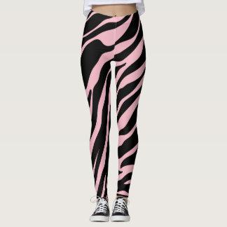 Leggings Polainas salvajes del estampado de zebra