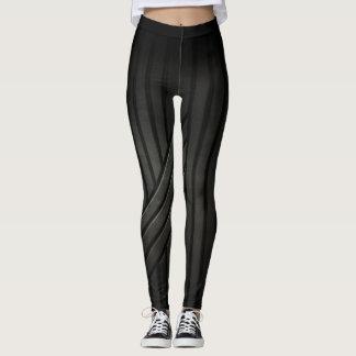 Leggings Polainas texturizadas negro