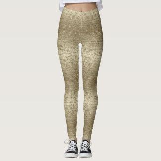 Leggings Polainas texturizadas oro fresco
