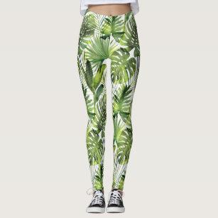 Leggings Polainas tropicales de las hojas