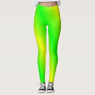 Leggings Polainas verdes claras y amarillas