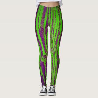 Leggings Polainas verdes de la corteza