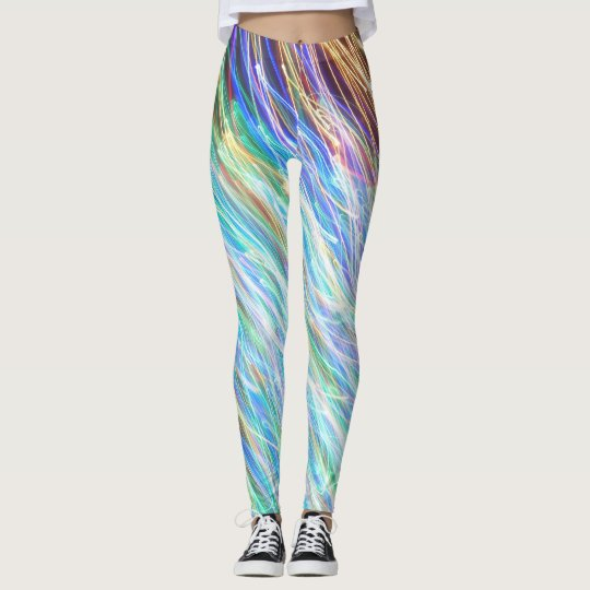 Leggings Polainas verdes del artista C.L. Brown