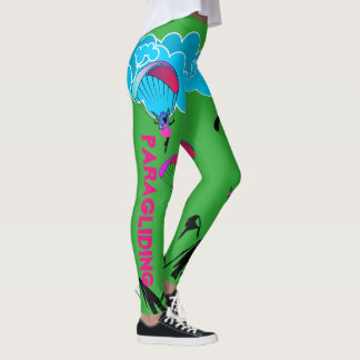 Leggings Polainas verdes del duendecillo del Paragliding