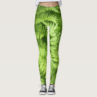 Leggings Polainas verdes del helecho de la naturaleza