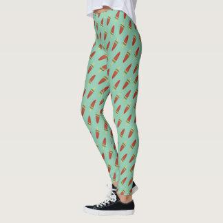 Leggings Polainas verdes lindas del modelo del estallido