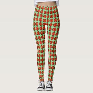 "Leggings polainas verdes rojas ""Apple """