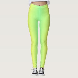 Leggings Polainas verdes y amarillas de la pendiente
