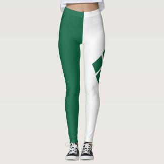 Leggings Polainas verdes y blancas