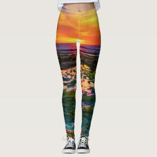 Leggings puesta del sol del color