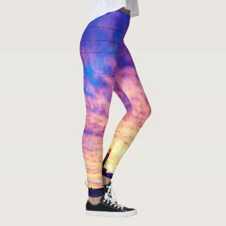 Leggings Puesta del sol púrpura