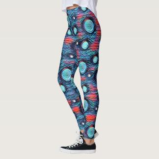 Leggings Puntos abstractos, modelo de las burbujas, arte