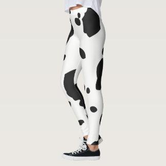 Leggings Puntos animales blancos y negros de la vaca